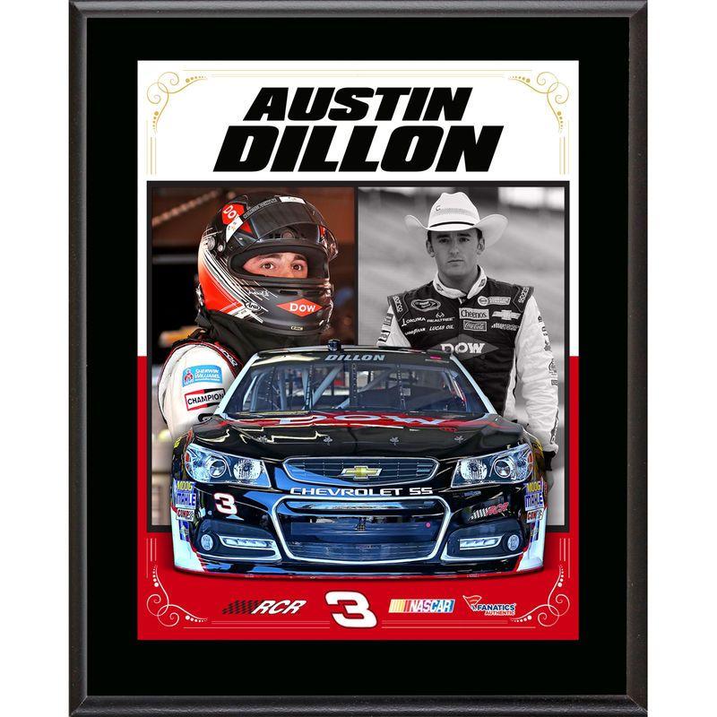 """Austin Dillon Fanatics Authentic 10.5"""" x 13"""" Sublimated Stylized Composite Plaque"""