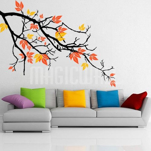 Pretty autumnal branch wall decals stickers