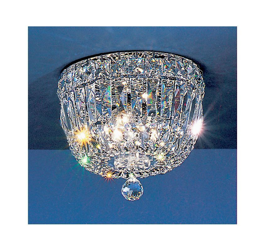 """Classic Lighting 53308-CH 6"""" Crystal Flushmount from the Empress Collection Crystalique-Plus Indoor Lighting Ceiling Fixtures Flush Mount"""