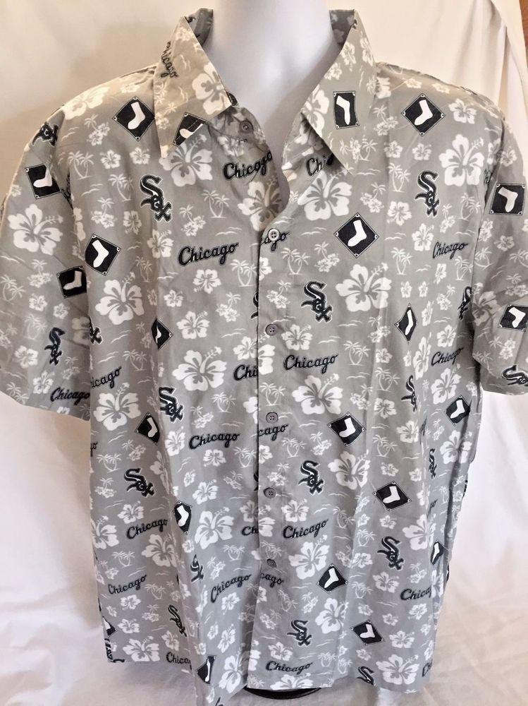 b837e027 Chicago White Sox Hawaiian Shirt XL Beggars Pizza Baseball Hibiscus Flower  Aloha #API #Hawaiian