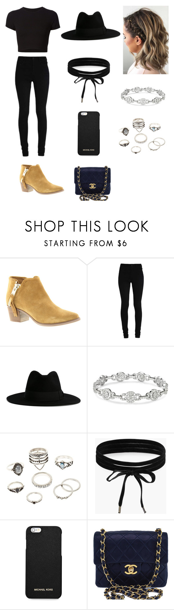 """""""Untitled #31"""" by chanita03 ❤ liked on Polyvore featuring Steven by Steve Madden, Getting Back To Square One, Yves Saint Laurent, Charlotte Russe, Boohoo, MICHAEL Michael Kors and Chanel"""