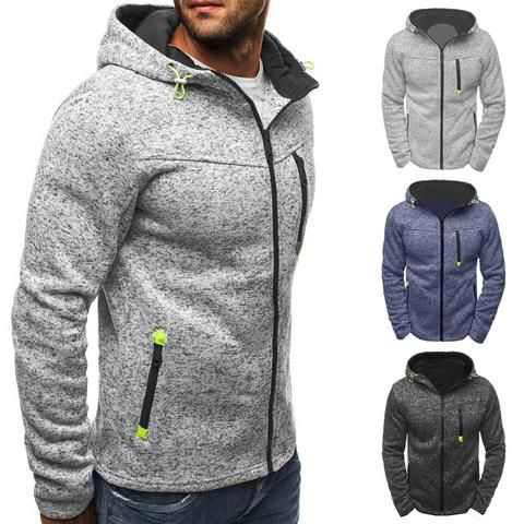 CYJ-shiba Mens Outdoor Warm Zipper Hooded Sweatshirt Jacket Pocket Outwears