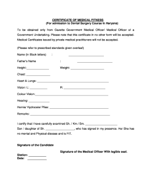 Medical Fitness Certificate Standard Format For Neet 2020 Google Search Medical Fitness Surgery