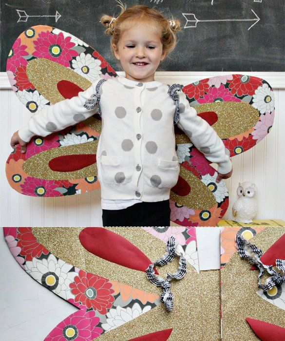 Adorable DIY Halloween costumes - love this retro butterfly - simple halloween costumes ideas