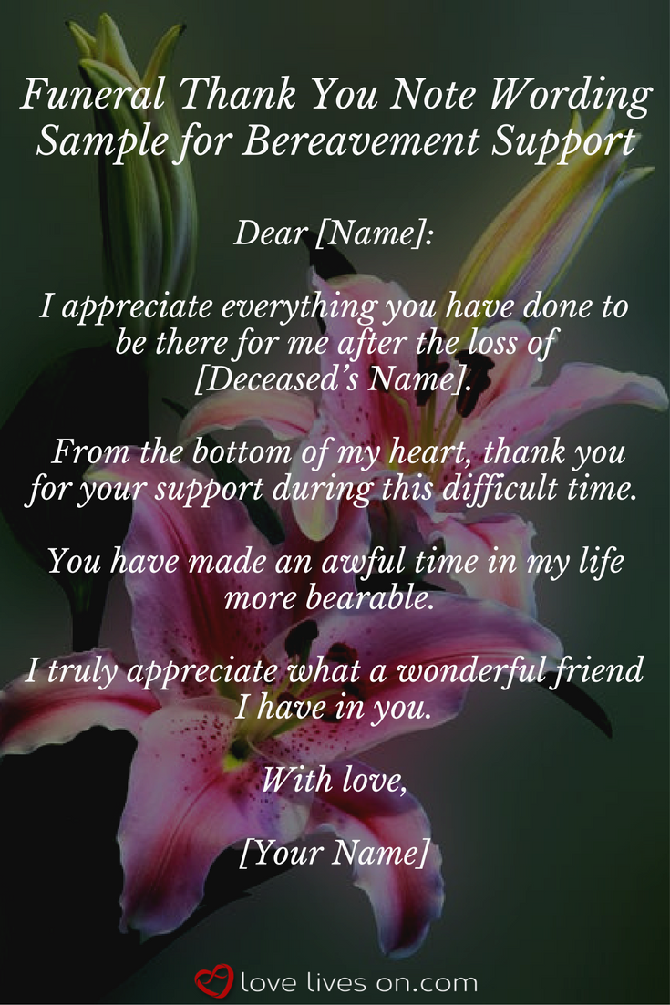 33 best funeral thank you cards lovelywords pinterest funeral sample wording for funeral thank you notes for bereavement support click for more funeral thank you note sample wording izmirmasajfo