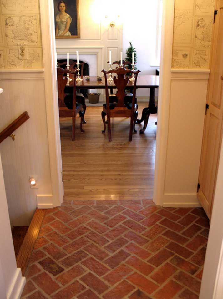 Fake Brick Flooring Great White Wall Painted Also Faux Brick