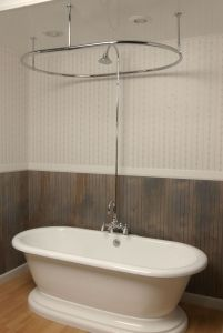 Side Mount Shower Enclosure Set Deck Mounted Or Tub Wall Mounted