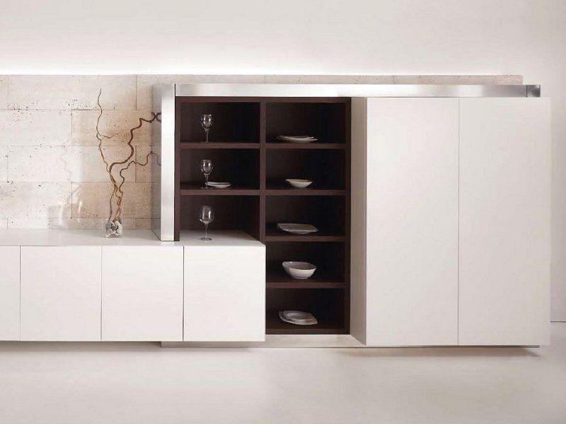 Cozinha linear de Corian® sem alças D90 | Cozinha de Corian® - TM ...