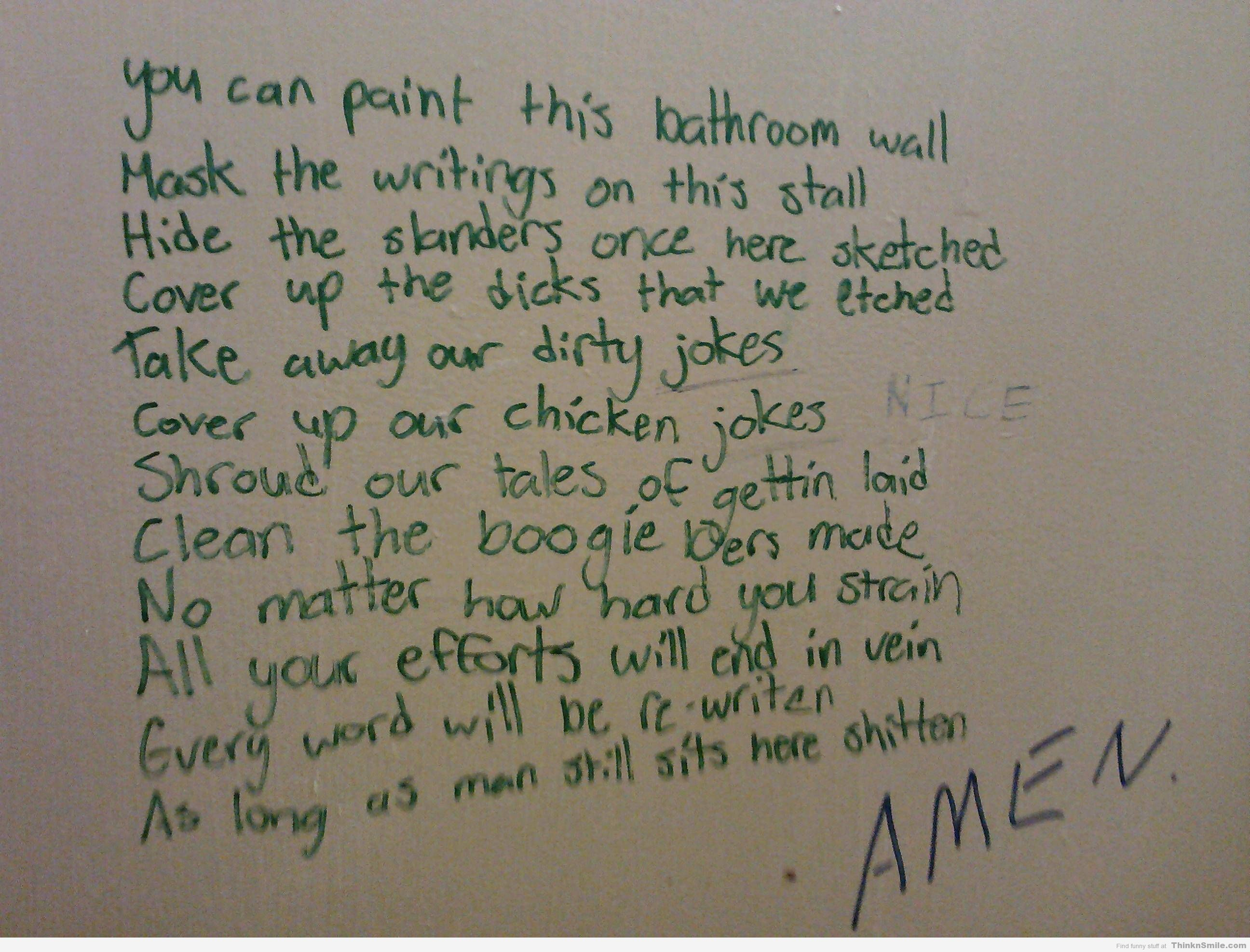 Best Bathroom Stall Quotes epic bathroom stall poem | funnyshiz - repin me! | pinterest