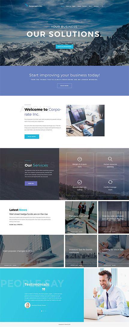 Corporate S Inc Wordpress Theme Corporate Website Design Wordpress Theme Design Wordpress Theme
