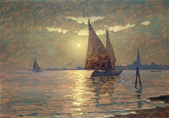 Ferruccio Scattola - Venezia, vele al chiaro di luna