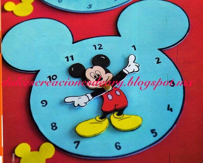 Dulcescreacionesdeary vamos a aprender la hora manualidades aprender la hora manualidades - Manualidades relojes infantiles ...