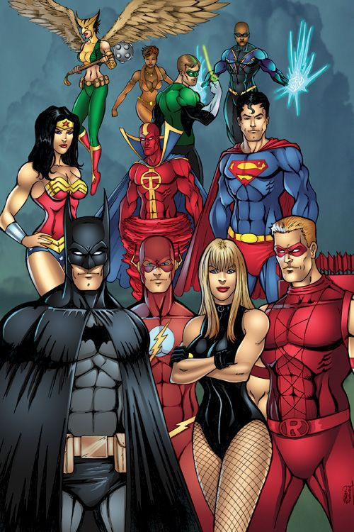 Justice League Pencil Drawing Colored In Photoshop Pencils And Colors Sean Forney All Characters Justice League Comics Dc Comics Artwork Dc Comics Superheroes