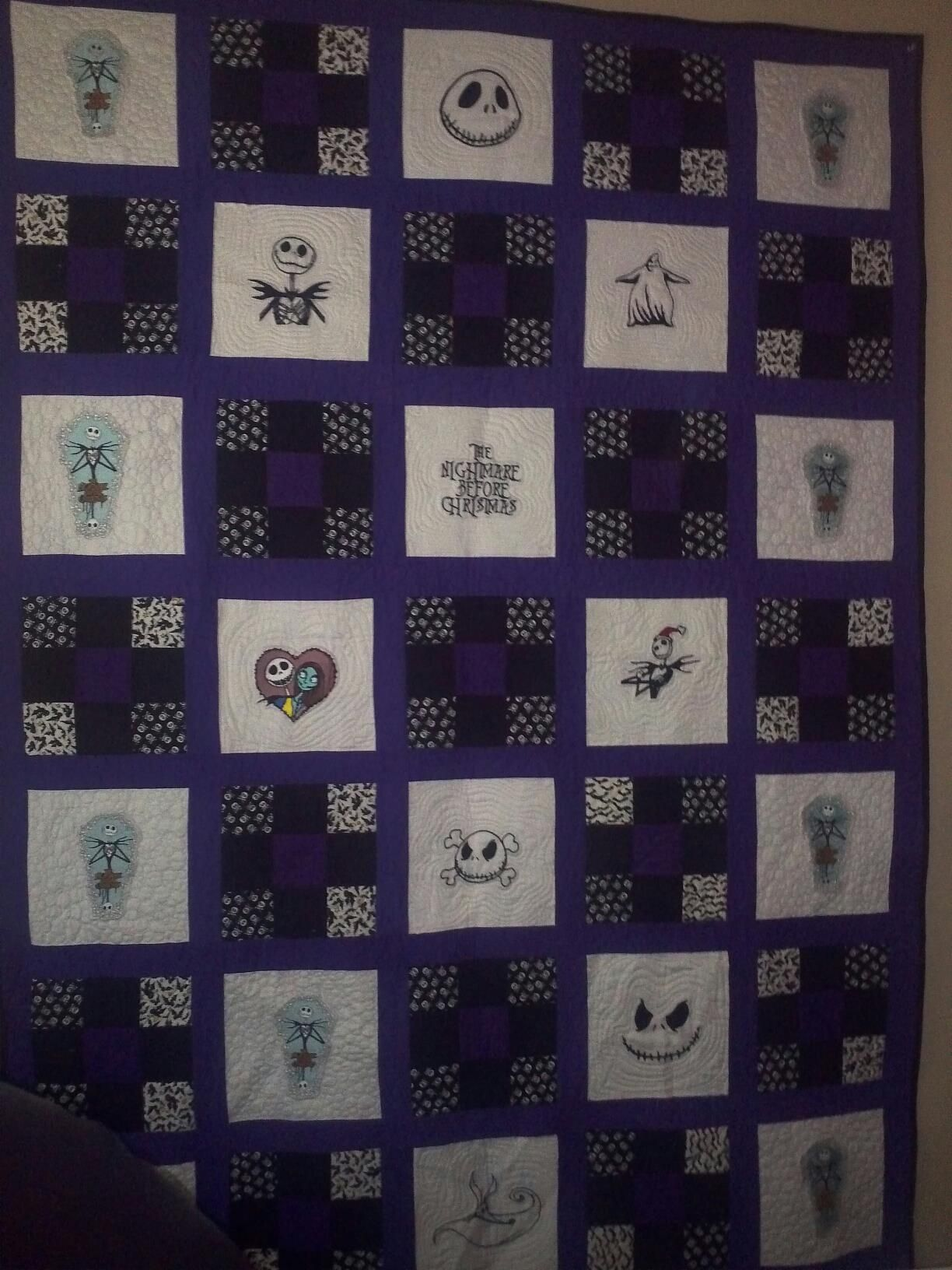 Nightmare Before Christmas Quilt Nightmare Before Christmas Blanket Christmas Quilt Patterns Nightmare Before Christmas