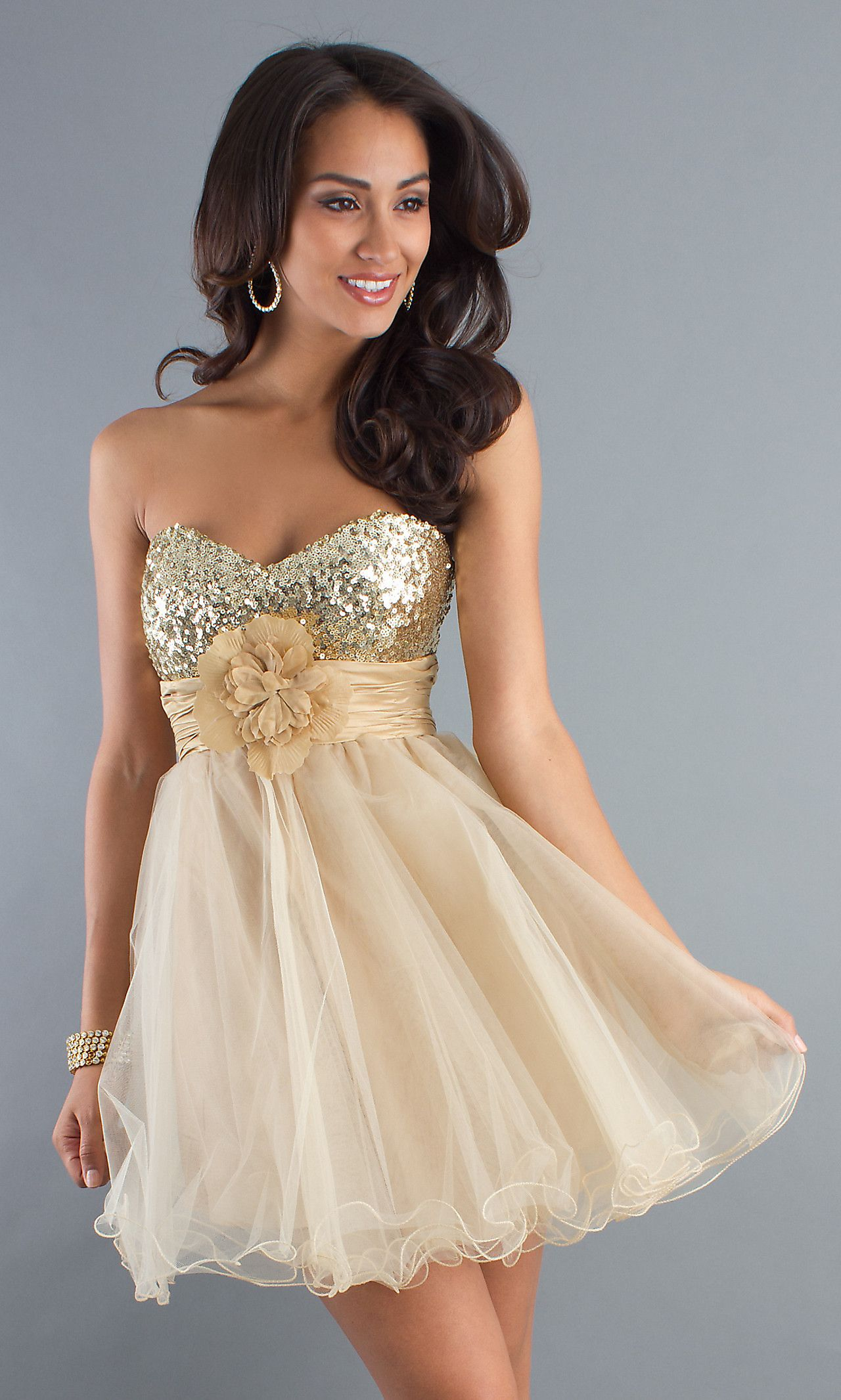 230e400a4f Short Strapless Party Dress