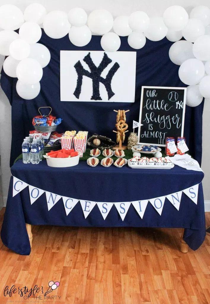 Baseball Themed Shower Decor Yankees Birthday Party Baseball Baby Shower Theme Yankees Baby