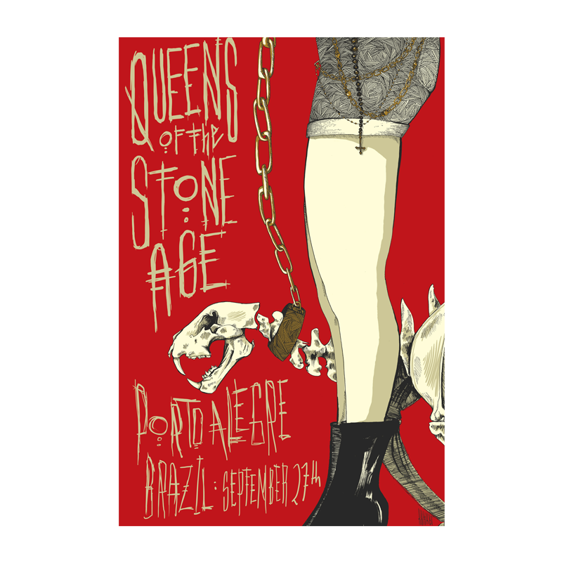 Queens Of The Stone Age Qotsa Porto Alegre Brasil Event Poster 9 27