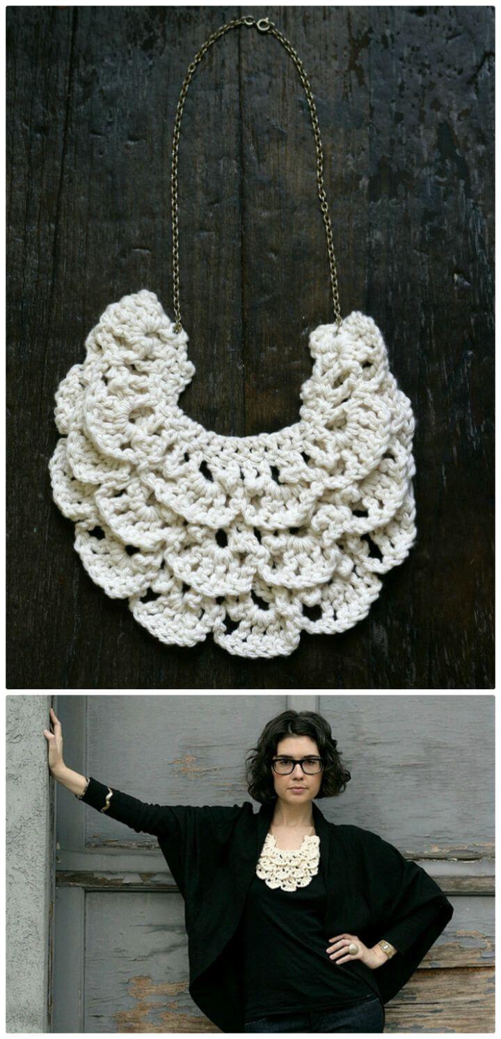 Crochet Necklace - 27 Free Crochet Patterns | Crochet necklace, Free ...