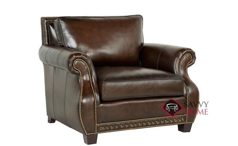 Parker Leather Chair with Down-Blend Cushion by Bernhardt in 165-220 at Savvy Home. $959.00