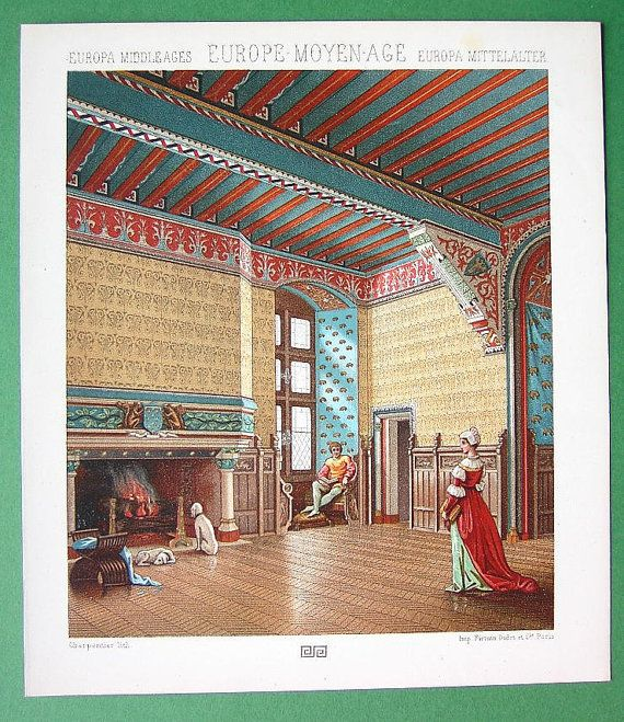 COSTUME Of Middle Ages Interior French Manor By Martin2001 1000