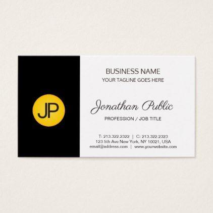 Modern Creative Monogram Corporate Plain Elegant Business Card   Architect  Gifts Architects Business Diy Unique Create