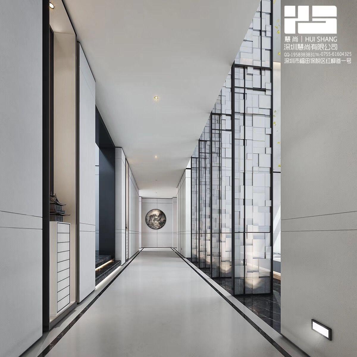 High ceiling corridor hallway screens asian for Hotel corridor decor