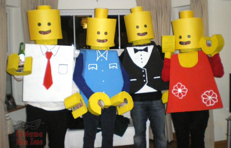 Lego Figures costume idea for a group. See more great group costume ideas on our site! http://costumeideazone.com