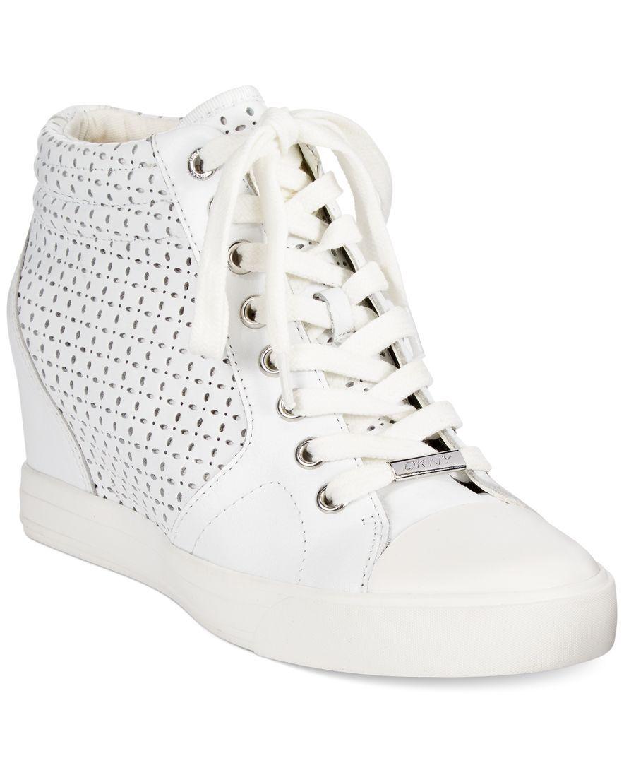 1636668b6392 DKNY Cindy Wedge Sneakers Wedge Sneakers