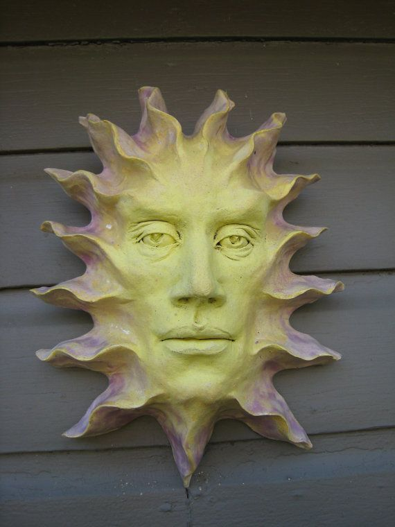 Face of the Sun 1 ceramic mask wall art by SmillieCeramics on Etsy ...