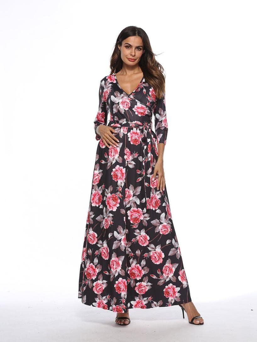 4f95661a1c099 Maternity Styles - best maternity maxi dress : Jarsh Women Dress Waist Belt  Maternity Floral Long Sleeve Elegant Maxi Dresses ** Details could be found  by ...
