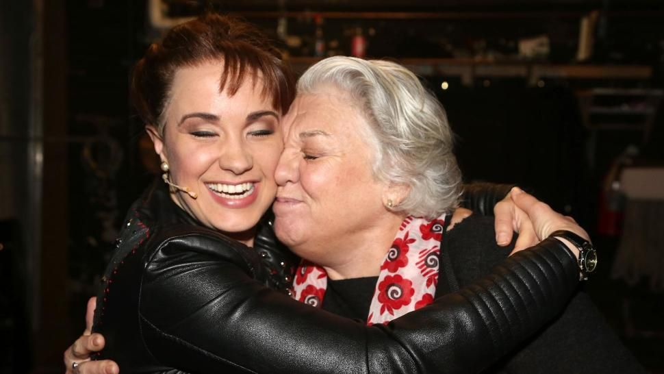 Sierra Boggess and Tyne Daly