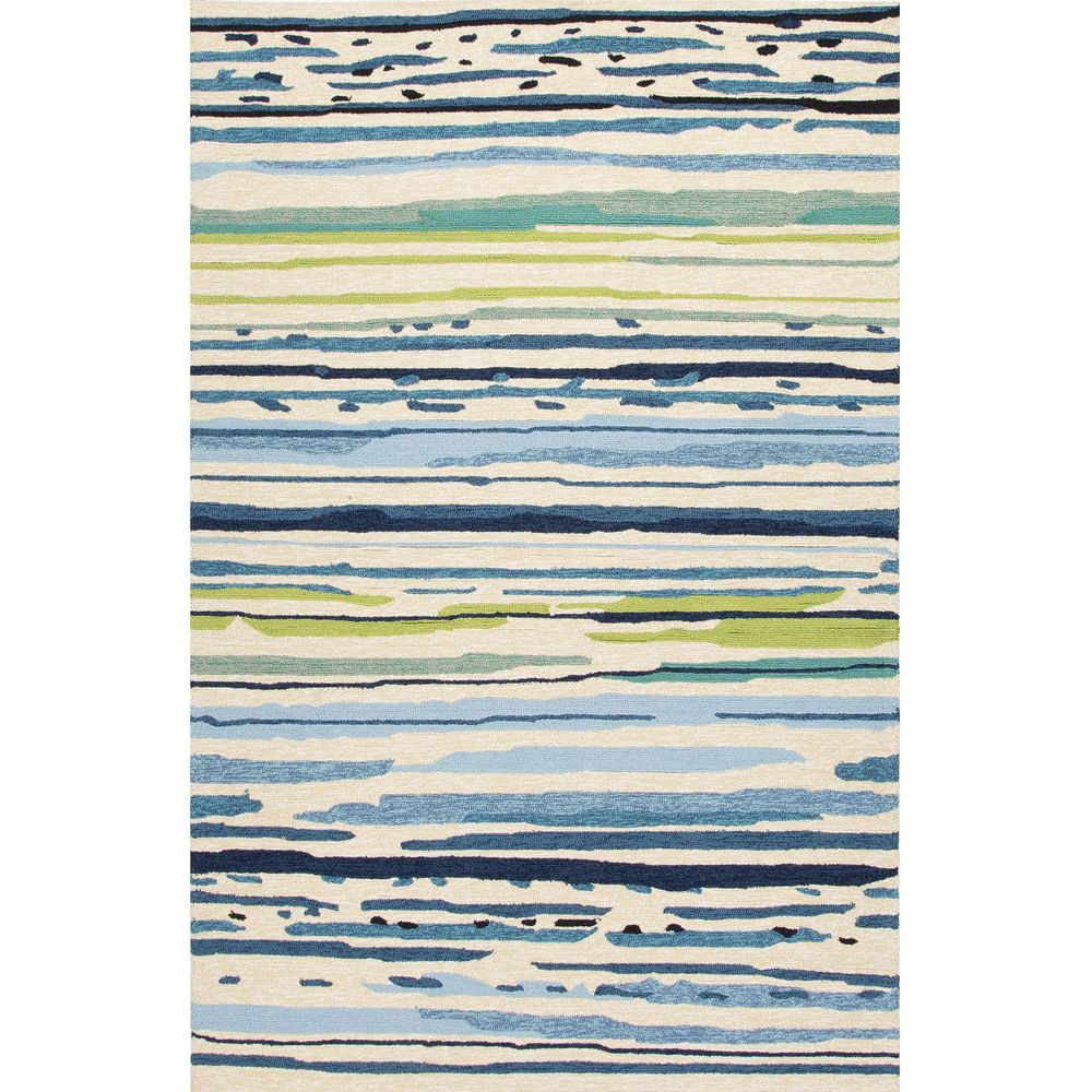 Havenside Home Provincetown Indoor Outdoor Abstract Blue Green Area Rug 7 6 X 9 6 Modern Outdoor Rugs Outdoor Rugs Patio Green Area Rugs