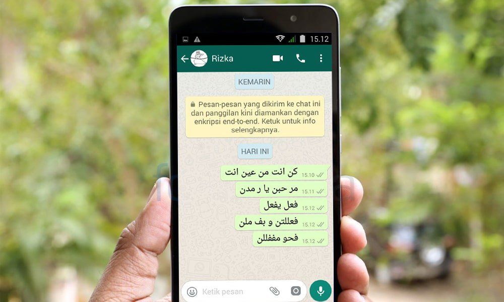 Cara Membuat Tulisan Arab Di Whatsapp Wa Android Education