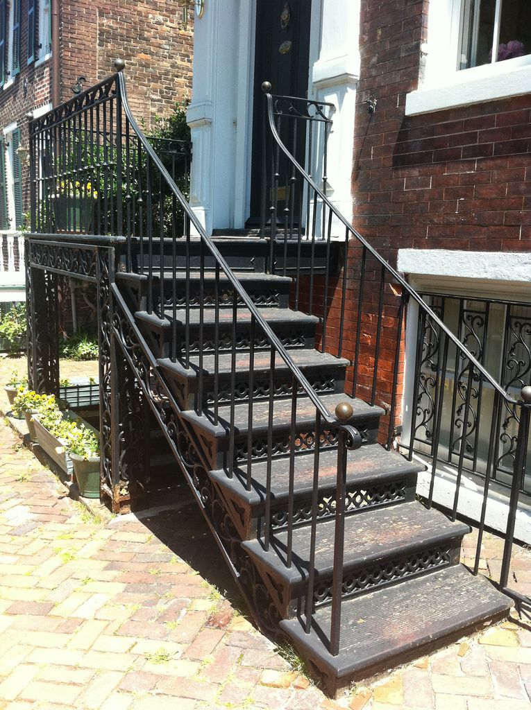 Best Cast Iron Front Stairs Step One Old Town Home 400 x 300