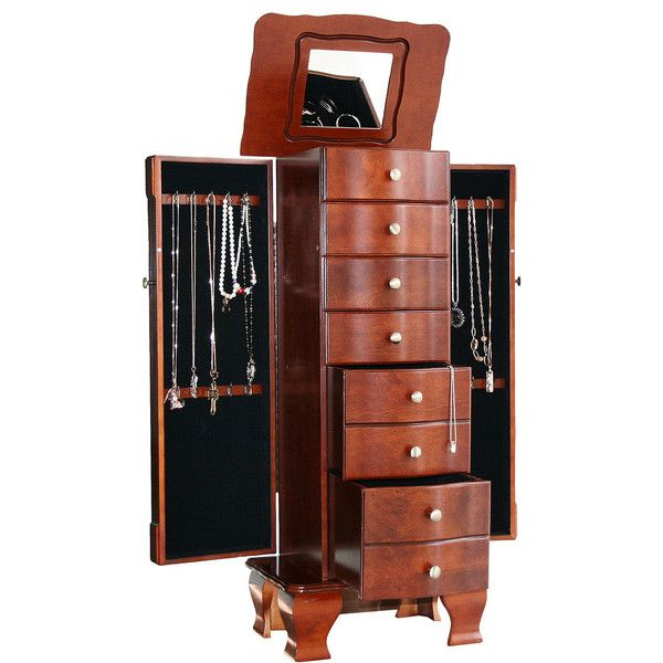 Kathy Ireland Antique WalnutFinish Jewelry Armoire 850 liked