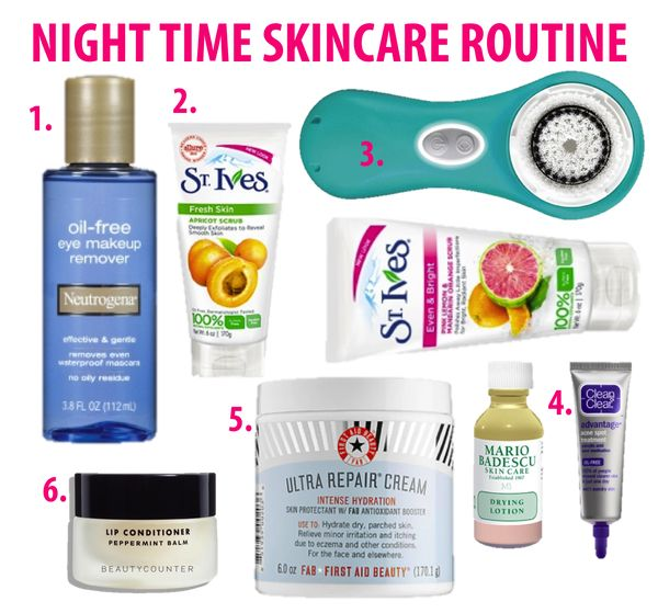 Pin By Ainsley On Beauty With Images Night Time Skin Care Routine