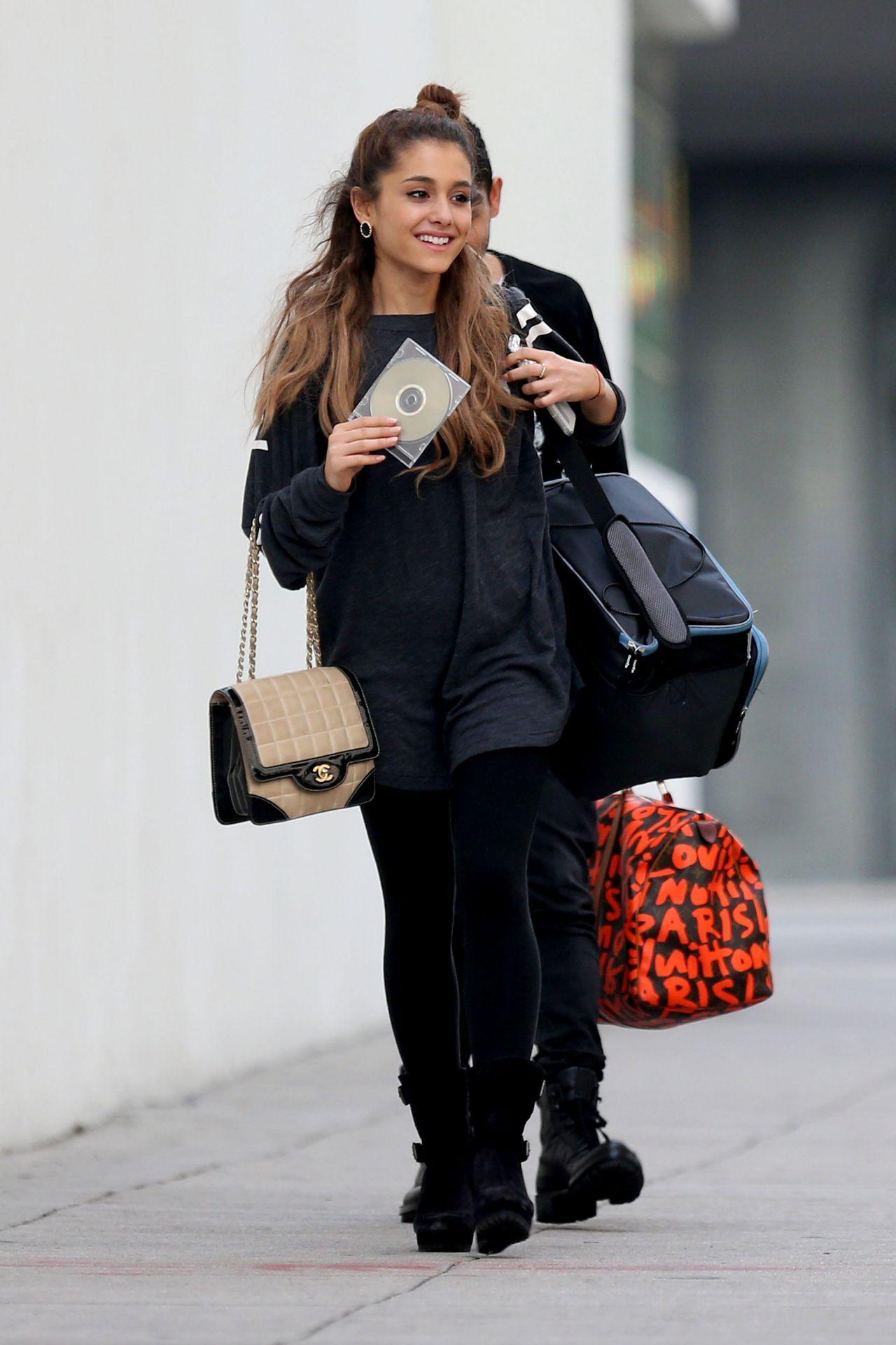 Ariana Grande Black Dress 2014