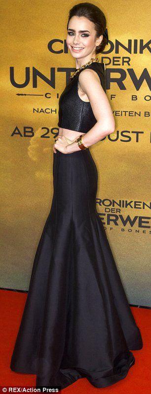 ecc758d4f444da Lily Collins attending the premiere of her latest flick The Mortal  Instruments…