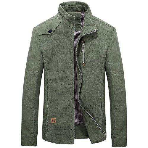 Sleek Casual Stand-Up Collar Slim Lightweight Men's Jacket Coat 3 ...