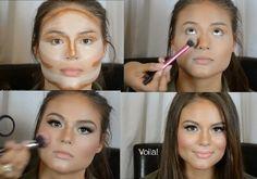 MAQUILLAJE ACTUAL: Maquillaje moderno para jovencitas y señoras: MAQUILLAJE PARA CARA REDONDA