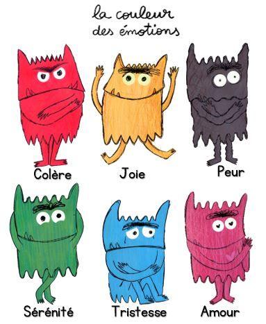 La couleur des émotions | Ecole Sainte Odile | Idée | Pinterest