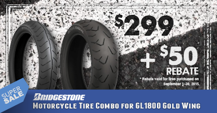 $249 for a pair of GL1800 #Bridgestone #Tires?! You read that right! http://wingstuff.com/products/34028 #motorcycle #sale #rebate