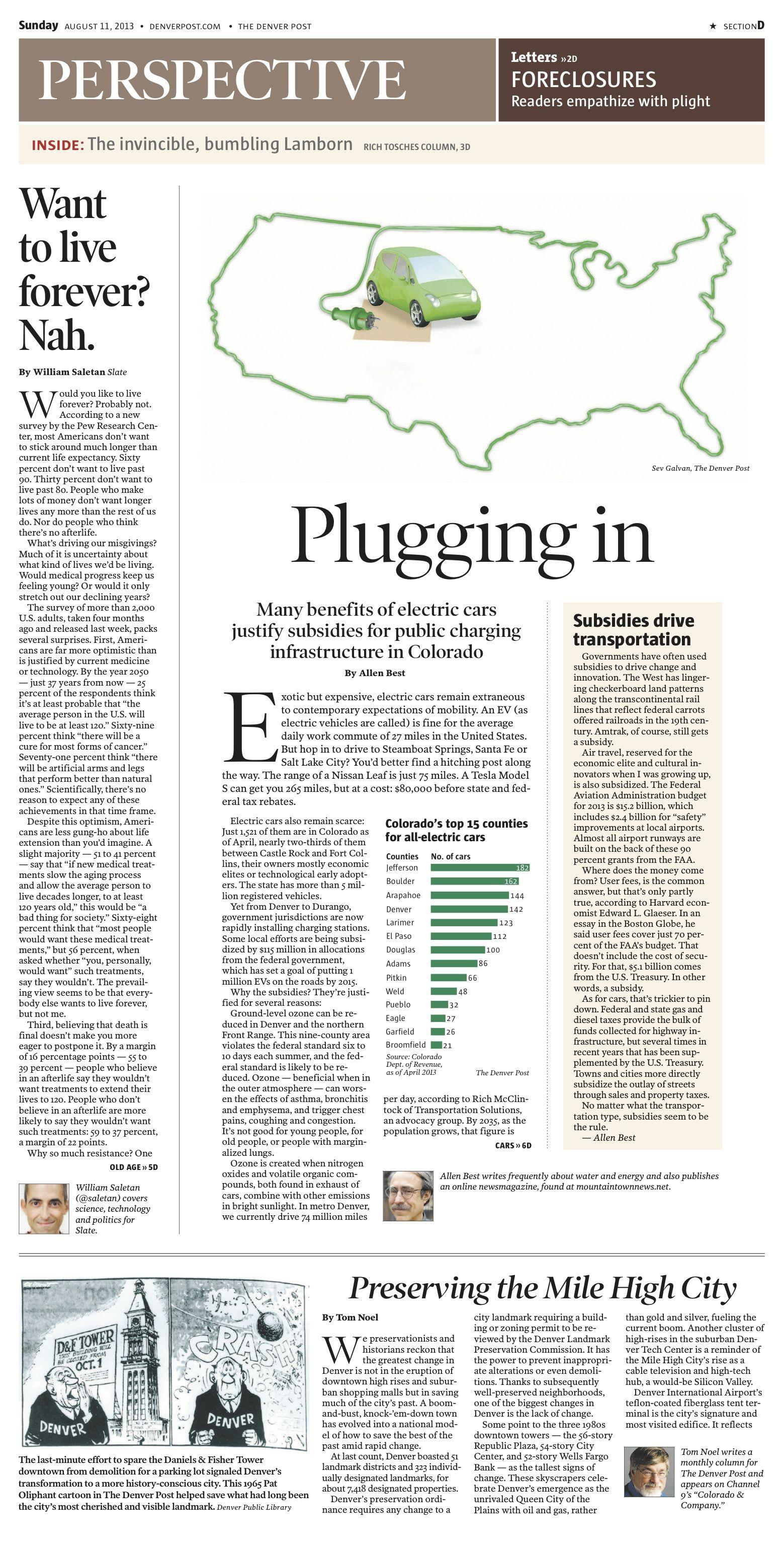 Sunday, August 11, 2013 Denver Post Perspective cover. Illustration by Sev Galvan.