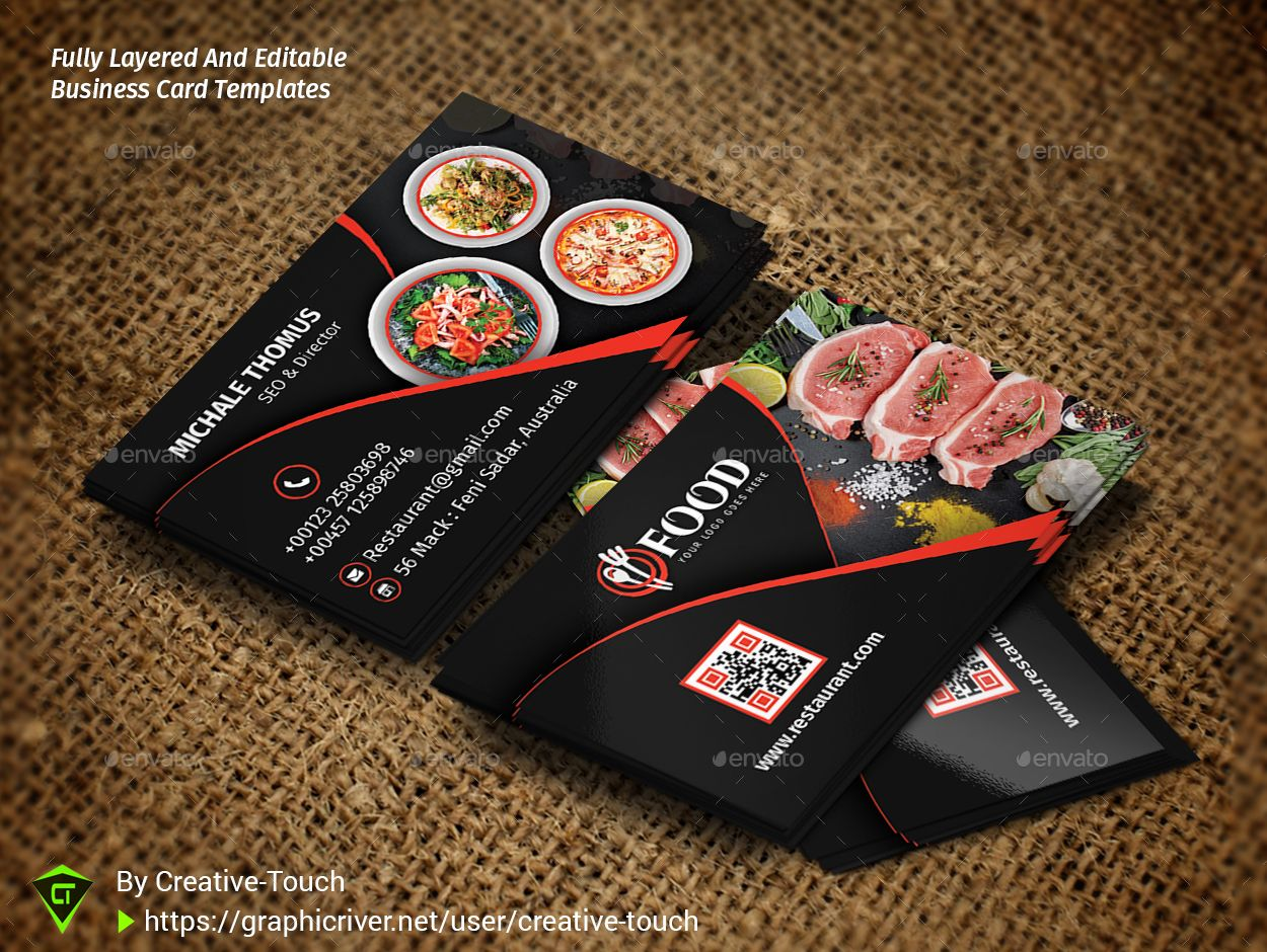 Restaurant Business Card Restaurant Business Card Free