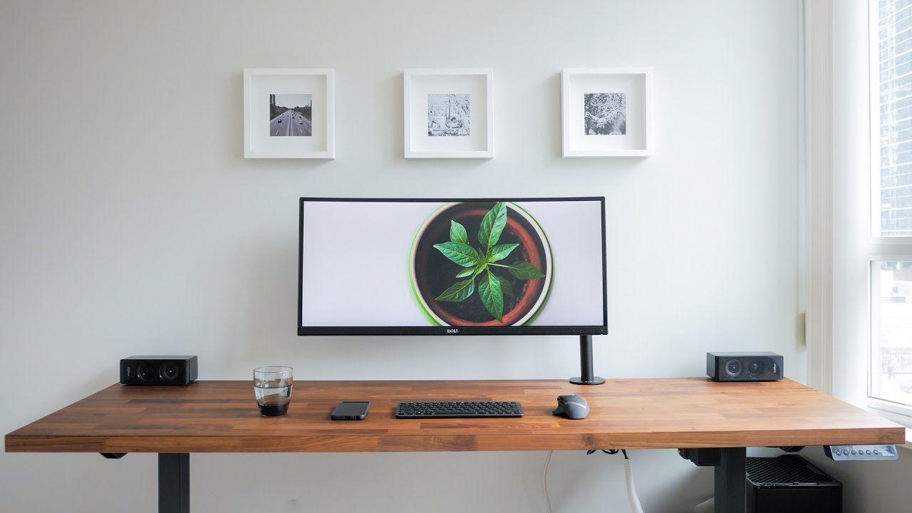 A Clean Minimalistic And Ergonomic Desk Is My Diy Dream Setup I