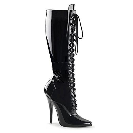 Pleaser Domina-2020 - Sexy extreme Fetisch Stiefel High Heels 36-48, Größe:EU-45 / US-14 / UK-11 - Stiefel für frauen (*Partner-Link)