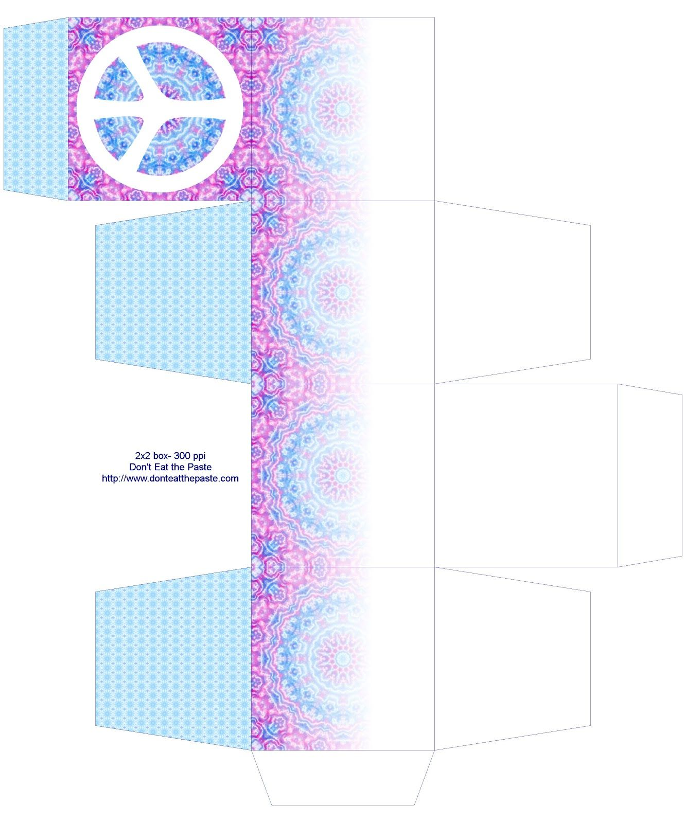 peace symbol printable paper and gift boxes