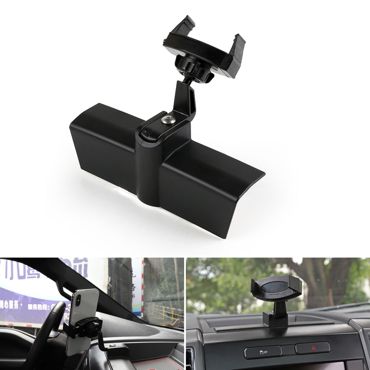 360 Rotation Car Mount Cellphone Holder GPS Stand For Ford