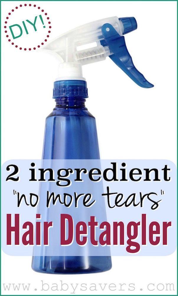 Diy Homemade Hair Detangler A Tear Free Recipe Homemade Hair Products Hair Detangler Diy Hair Detangler