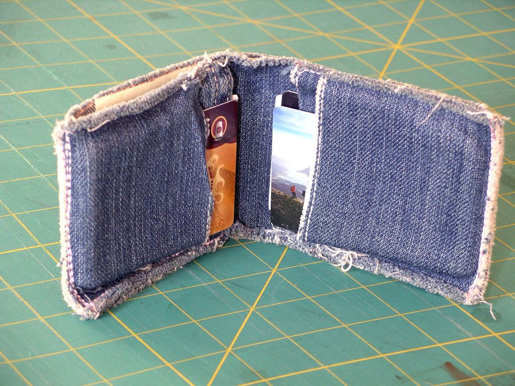 How To Hem Pants With A Cuff Jeans Cuff Wallet Diy Denim Wallet Denim Wallet Jeans Diy